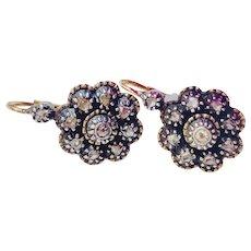 Diamond 19th Century Portuguese Earrings