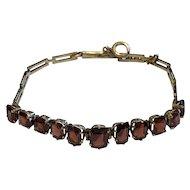 Edwardian 9 Karat Gold Garnet Bracelet