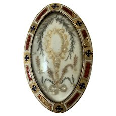 A Georgian Hair-work Memorial Brooch