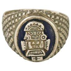 Peruvian Sun God Inti Sterling Silver Ring Size 9