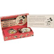 Disney Limited Edition Mickey Mouse Pocket Watch With Box 1994