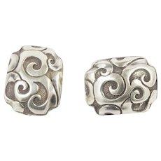 John Hardy Sterling Silver Balinese Earrings Omega