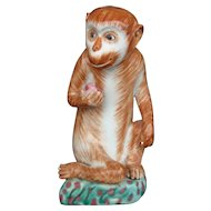 Chinese Porcelain Monkey Statue