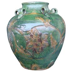 Chinese Fahua Loop Jar