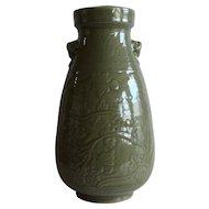 Chinese Longquan Carved Vase