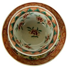 Chinese Polychrome Cup and Saucer - Kangxi Period