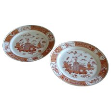 "Chinese Pair of ""Blood and Milk"" Plates - Kangxi Period"