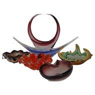 Coloured Glass Bowls