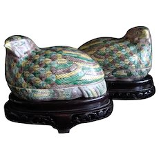 Chinese Quail Box (Pair)