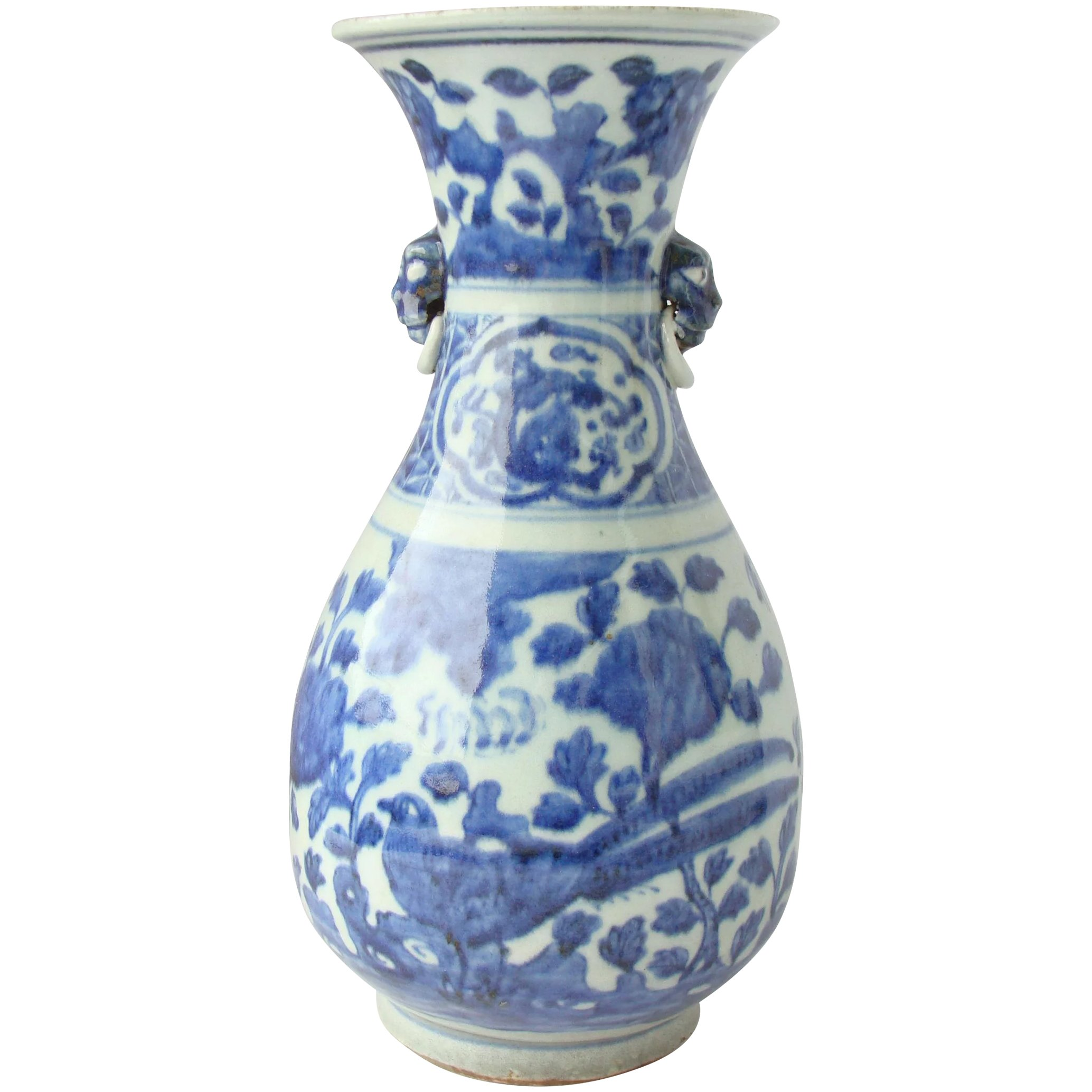 Chinese blue and white vase asia of old ruby lane chinese blue and white vase click to expand reviewsmspy