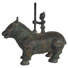 Chinese Bronze Han Oil Lamp