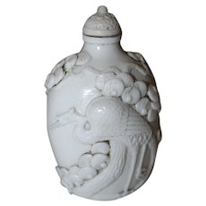 Chinese Molded Porcelain Snuff Bottle