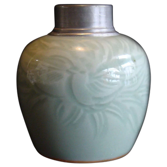 Celadon Tea Caddy