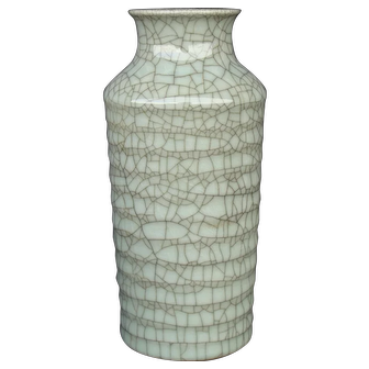 Chinese Ribbed Vase