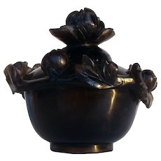 Chinese Smokey Quart Censer