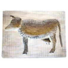 Primitive Folk Art Cow Maple Sugar Mold