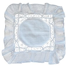 Breathtaking Antique Needlework Handkerchief