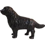 Arcade Newfoundland Dog Cast Iron Still Bank