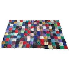 Fabulous Mid-Century Patchwork Suiting Quilt