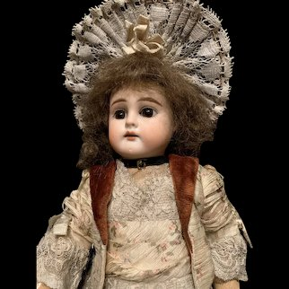 All Original 13 inch Antique Doll marked with the letter B