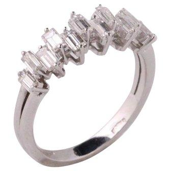 Diamonds and white gold 18k ring