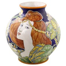 Art Nouveau Italian vase (Sesto Fiorentino)