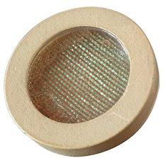 "Large Vintage Art Deco Colour Changing Celluloid Button Holographic Foil Inlay 1 5/8"""