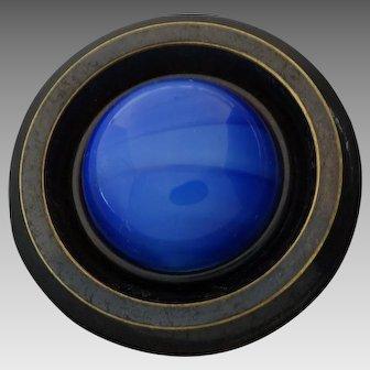 "X-Large Antique Victorian DUG Button Design under Glass - a hair under 2"""