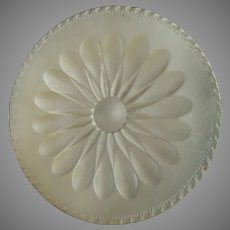 """Large Antique Late Georgian Early Victorian Carved Mother of Pearl Daisy Button 1 5/16"""""""