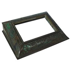 Tiffany Studios Bronze & Favrile Glass Pine Needle Picture Calendar Frame
