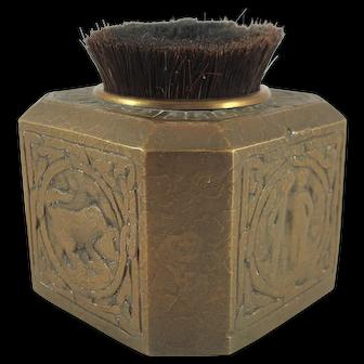 Tiffany Studios Zodiac Pattern Bronze Gold Dore' Pen Brush