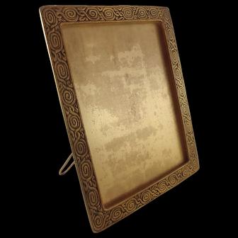Tiffany Studios Zodiac Pattern Gold Dore Bronze Picture Frame