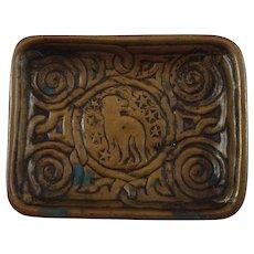 Tiffany Studios Bronze Zodiac Pattern Desk Tray
