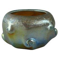 Tiffany Studios Favrile Glass Pigtail Salt Dish #D