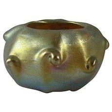 Tiffany Studios Favrile Glass Pigtail Salt Dish #F