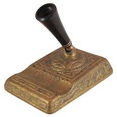 Very Rare Tiffany Studios Bronze Zodiac Pattern Gold Dore' Pen Stand