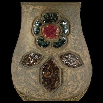 """Roseville Pottery Mostique Gray 8"""" Arts & Crafts Vase 13-8"""