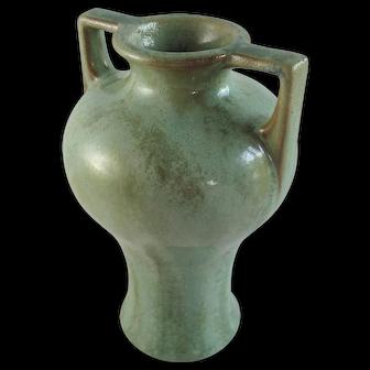 Fulper Pottery Square Handled Vase Beautiful Crystalline Glaze #645