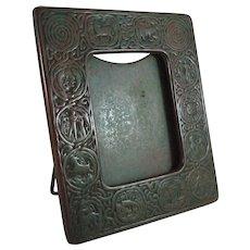 Tiffany Studios Bronze Zodiac Picture Frame Stunning Patina Arts & Crafts