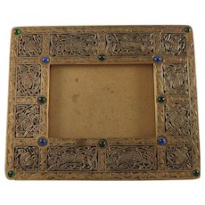 Tiffany Studios Large Ninth 9th Century Pattern Bronze Picture Frame