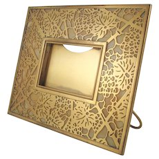 Tiffany Studios Gilt Bronze And Favrile Glass Grapevine Picture Frame