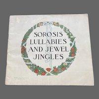 1907 Sorosis Shoe Co Catalog Lullabies and Jewel Jingles