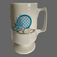 Walt Disney Productions Footed Mug Advertising Souvenir Magic Kingdom