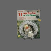 Christmas 11 Light Tree Top, Wall Plaque Angel Light Merrybrite Vintage