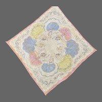 Vintage Dancer Ballerina Pastel Hanky Handkerchief