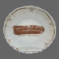 Vintage Souvenir Plate State Normal School Lock Haven PA Pennsylvania