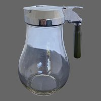 Large Glass Dripcut Batter Pitcher With Bakelite Handle Vintage