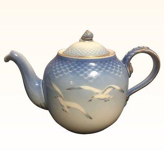 Bing & Grondahl Copenhagen Large Blue Seagull Teapot