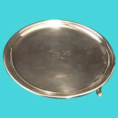 George III English Provincial Sterling Footed Silver Salver Hallmarked Sheffield 1790