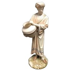 Royal Worcester England Fine Porcelain  Art Nouveau Figurine # 1250 Cairo Water Carrier C.1888